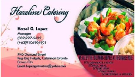 Hazeline Catering™