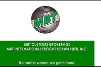 MBT CUSTOMS BROKERAGE / MBT INTERNATIONAL FREIGHT FORWARDER, INC.